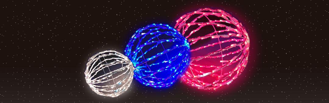 Bola luz colores y tamaños