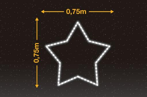 Estrella de 5 puntas 0,75m