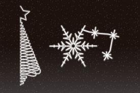 Luces de navidad para calles Medianas
