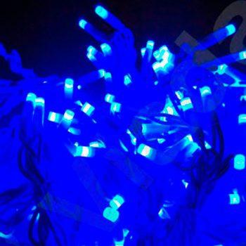 Cortina de luz azul led 1X2M