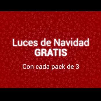 Luces de Navidad gratis al comprar un pack de 3 unidades