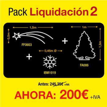 Figuras de luces Navidad -  Pack de liquidación 2