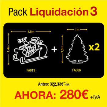Figuras de luces Navidad -  Pack de liquidación 3