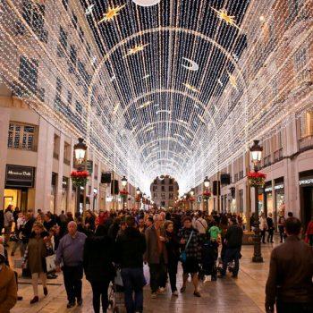 Encender el alumbrado luces Navidad Málaga ciudad